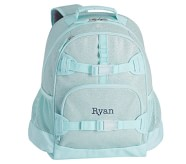 Potterybarn Aqua Sparkle Glitter Kids Backpacks