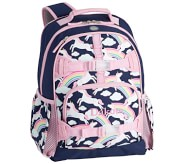 Potterybarn Navy Rainbow Unicorn Glow-in-the-Dark Kids Backpacks