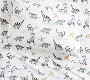 Potterybarn Organic Jurassic Kids Sheet Set