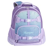 Potterybarn Lavender & Aqua Ombre Sparkle Glitter Kids Backpacks