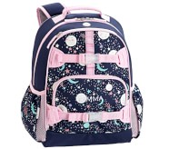 Potterybarn Mackenzie Pink Navy Glow-in-the-Dark Moons Girls Backpacks