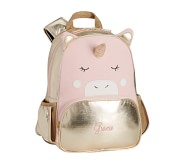 Potterybarn The Emily & Meritt Gold Unicorn Critter Kids Backpack