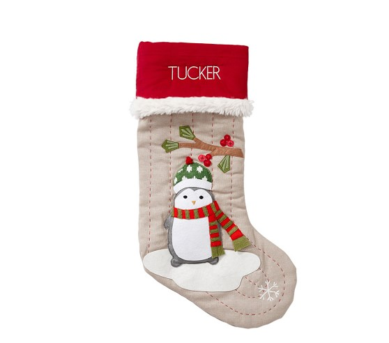 Woodland Christmas Stocking Collection Pottery Barn Kids