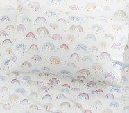 Potterybarn Organic Rainbow Cloud Kids Sheet Set