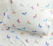 Potterybarn west elm x pbk Watercolor Unicorn Sheet Set & Pillowcases