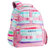 Potterybarn Mackenzie Pink Kayla Rainbow Stripes Backpacks