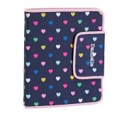 Potterybarn Mackenzie Navy Pink Multi Hearts Homework Holder