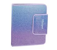 Potterybarn Mackenzie Lavender/Aqua Ombre Sparkle Glitter Homework Holder