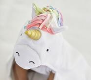 Potterybarn Unicorn Rainbow Baby Hooded Towel