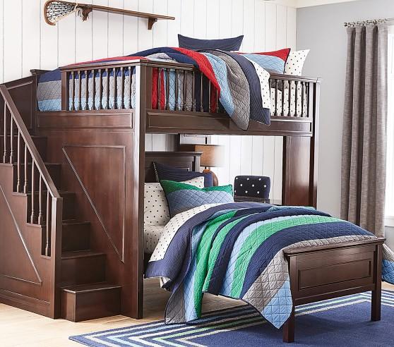 Fillmore Stair Kids Loft Bed Lower Bed Set Pottery Barn Kids