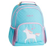 Potterybarn Mackenzie Aqua Unicorn Parade Light-Up Backpacks