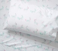 Potterybarn Organic Mystical Unicorn Sheet Set & Pillowcases