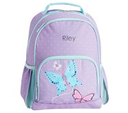 Potterybarn Mackenzie Aqua Lavender Pretty Butterflies Light-Up Backpacks