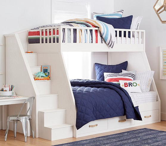 Collins Twin Over Full Stair Bunk Bed Pottery Barn Kids