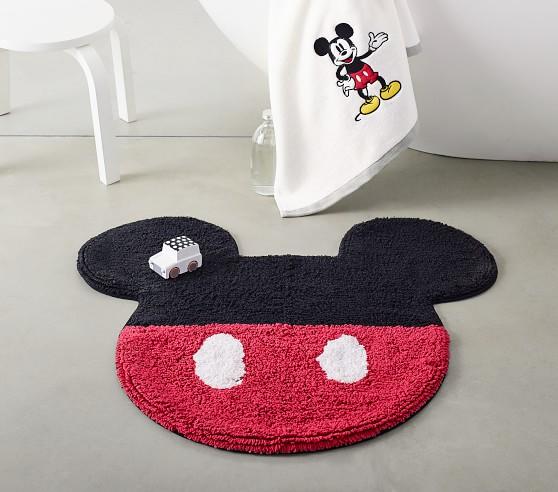 Disney Mickey Mouse Bath Set Towels Shower Curtain Bath Mat Pottery Barn Kids