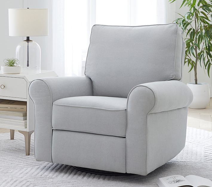 Comfort Swivel Nursery Glider Recliner Chair Pottery Barn Kids