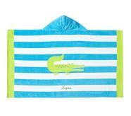 포터리반 Potterybarn Alligator Stripe Kid Beach Hooded Towel
