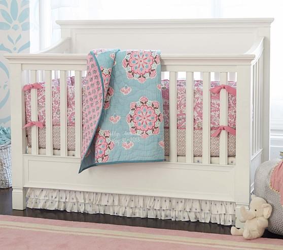 Pink Brooklyn Crib Bedding Set, Brooklyn Crib Bedding
