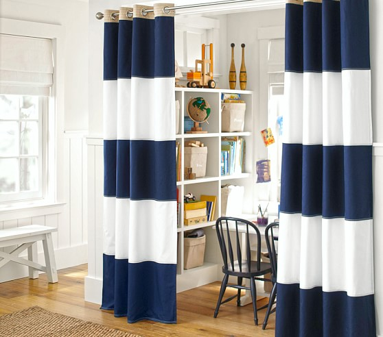 Blackout Curtain Pottery Barn Kids, Rugby Stripe Curtains