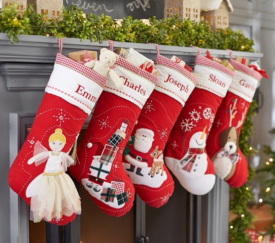 Puppy Splash Quilted Christmas Stocking