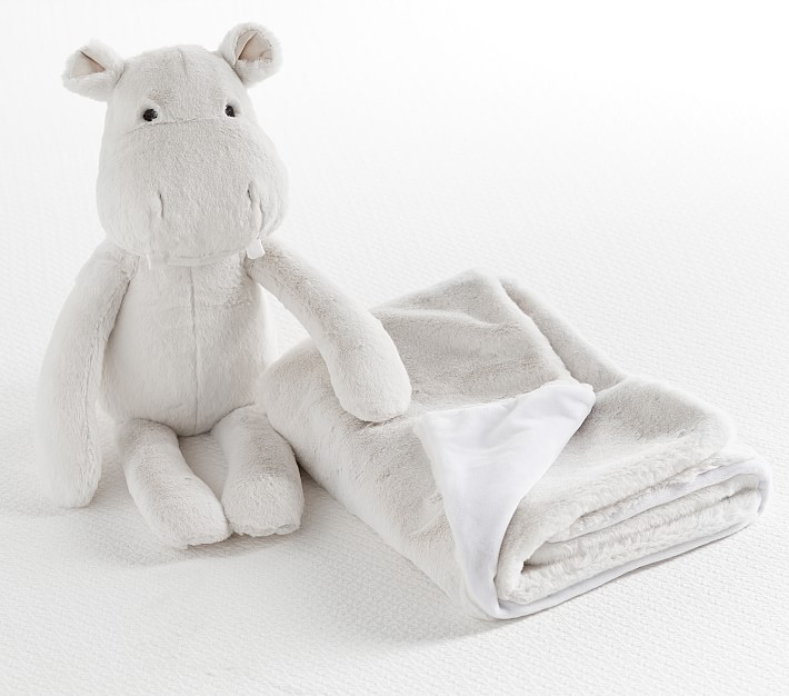 Little Princess Hippo-Nursery-Baby Shower Gift-Crib Blanket-Personalized Baby Blanket-Newborn
