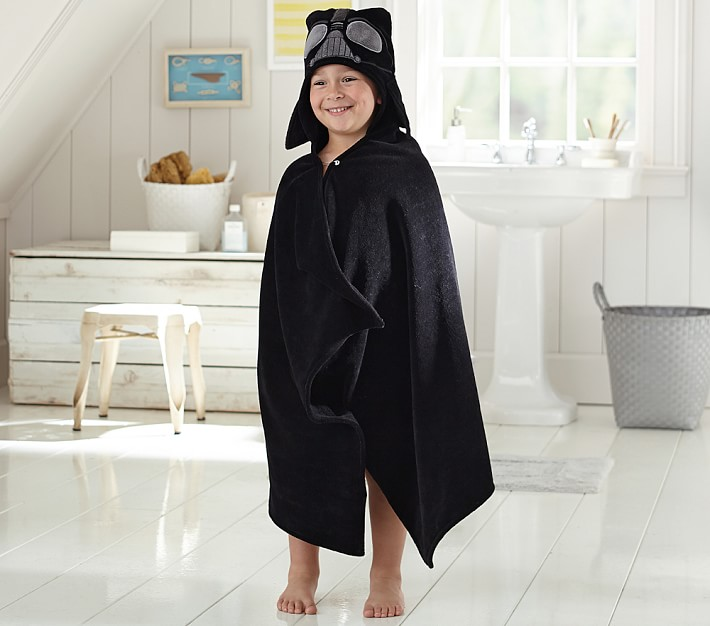 Teen or Adult Hooded Towel Character Inspired Dark One Darth Vader Towel for Bath or Swimming Pool Beach Darth Vader Hooded Towel