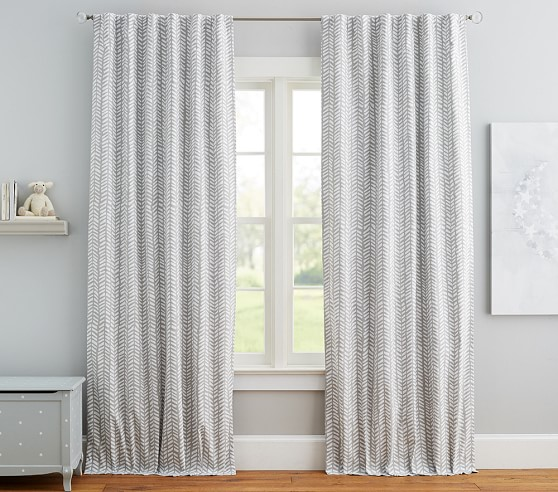 Bohemian Arrow Blackout lining optional greywhite  One Curtain Panel Curtains for Kids Wild and free arrows Baby Nursery Script