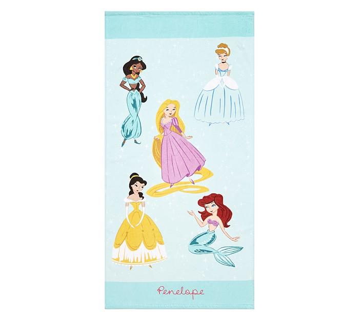 Disney Princess Characters Baby Beach Towel | Pottery Barn ...