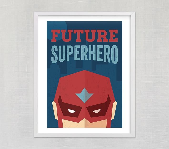 Superhero Decor Superhero Foil Print Superhero Quote Superhero Art Superhero Print Rose Gold  Copper Nursery Print Real foil