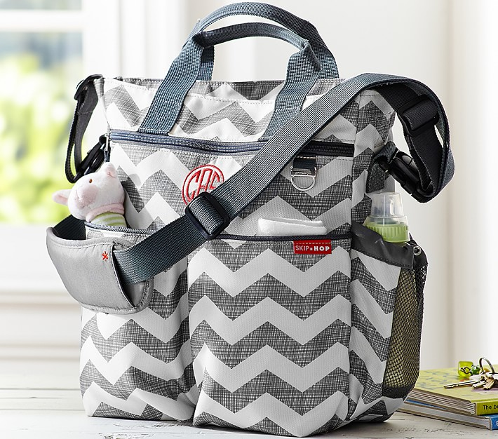Monogrammed Quilted Chevron Print Backpack with Bow Back to School Bag Diaper Bag Personalized Gift for Her