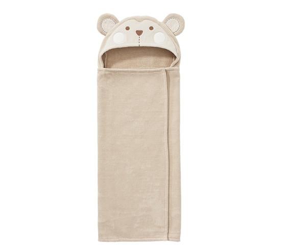 Bib and Towel Set Monkey Baby Towel Hooded Baby Towel Monkey Bib Baby Girl Gift Kids Towel Personalized Bath Towel