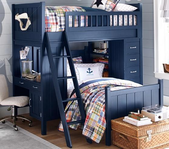 Camp Twin Kids Loft System Lower Bed Set Pottery Barn Kids