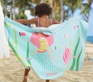 포터리반 Potterybarn Mermaid Kid Beach Hooded Towel