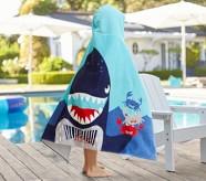 포터리반 Potterybarn Shark Portrait Kid Beach Hooded Towel