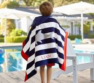포터리반 Potterybarn Shark Stripe Kid Beach Hooded Towel