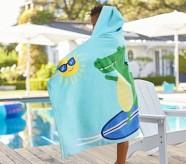 포터리반 Potterybarn Surfing Alligator Hooded Beach Towel