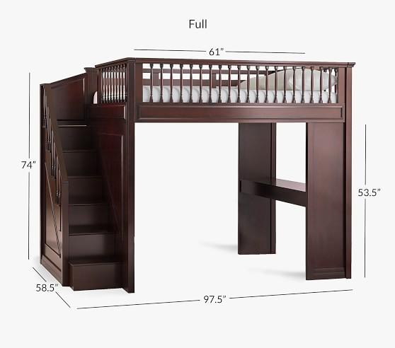 Fillmore Stair Loft Bed For Kids Pottery Barn Kids