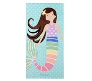 포터리반 Potterybarn BrunetteRainbow Mermaid Kids Beach Towel