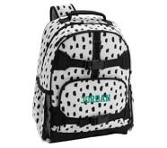 포터리반 가방 (초등 선물 추천) Potterybarn Mackenzie Black & White Brushstroke Dot Backpacks