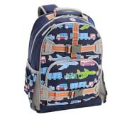 포터리반 야광 가방 (초등 선물 추천) Potterybarn Mackenzie Navy Transportation Glow-in-the-dark Backpacks