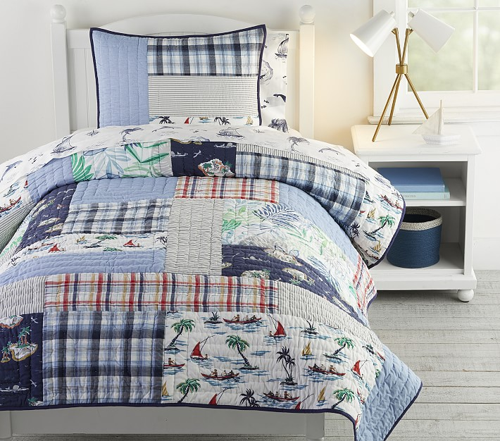 Surf Vibes Quilt Shams Pottery Barn, Surf Bedding Queen