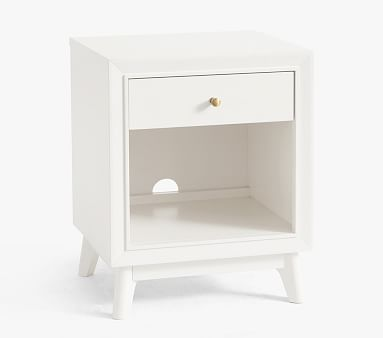 Sloan Nightstand, Simply White, In-Home Delivery