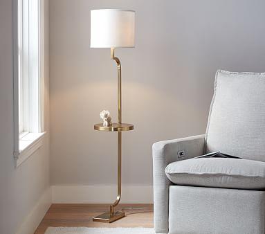 Polished Tray Floor Lamp