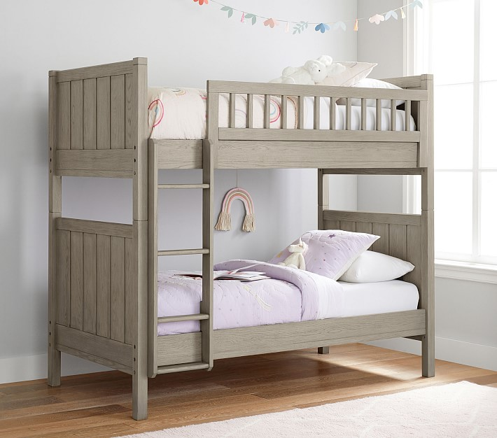 Camp Twin Over Twin Kids Bunk Bed Pottery Barn Kids