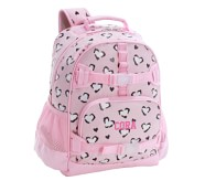 포터리반 치타 하트 가방 (초등 선물 추천) Potterybarn Mackenzie Pink Cheetah Hearts Glow Glitter Backpacks