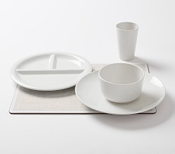 White Parker Compostable Tabletop Collection