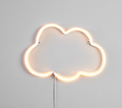 Neon LED Cloud Wall Decor