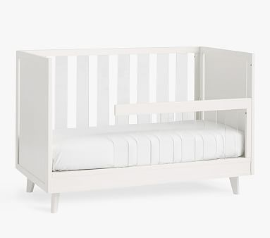 Sloan Acrylic Toddler Bed Conversion Kit, Simply White, Standard Parcel Delivery