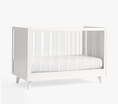 Sloan Acrylic Convertible Crib, Simply White, Standard Parcel Delivery