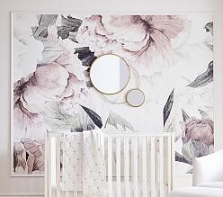 Anewall Blush Floral Wallpaper